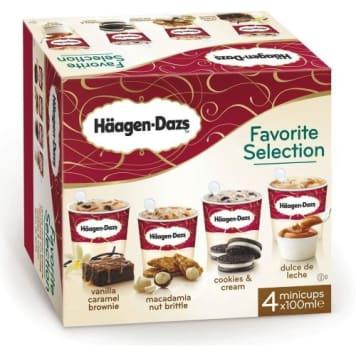 Lody Favorite Selection 400 ml - Haagen-Dazs. Zestaw wyśmienitych lodów w 4 smakach.
