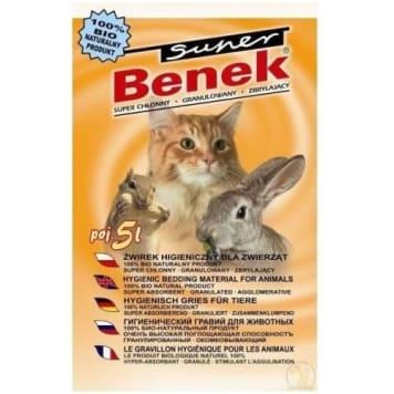 Żwirek uniwersalny dla kotów - Super Benek skutecznie pochłania wilgoć i nieprzyjemne zapachy.
