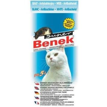 Żwirek antybakteryjny BIO - Super Benek zmienia kolor, kiedy wymaga wymiany. Produkt BIO.