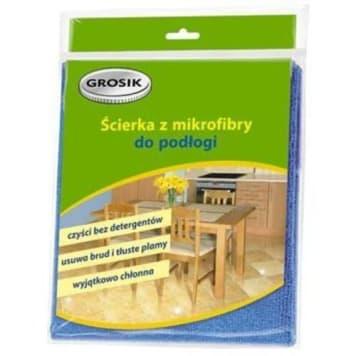 Ścierka do podłogi z mikrofibry Grosik dzięki cienkim włóknom czyści bardzo skutecznie.