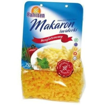 Makaron świderki bezglutenowy Balviten to kukurydziana alternatywa do dań obiadowych