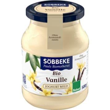 Jogurt waniliowy - Sobbeke. Produkt ekologiczny bez sztucznych barwników, konserwantów.