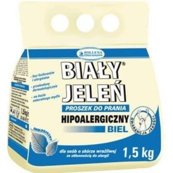 Proszek do prania białego - Biały Jeleń. Doskonały dla alergików i nie tylko.