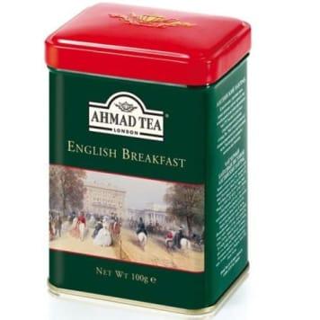 AHMAD TEA Herbata czarna English Breakfast (puszka) 100g - mocna, pobudzająca, pełna smaku.