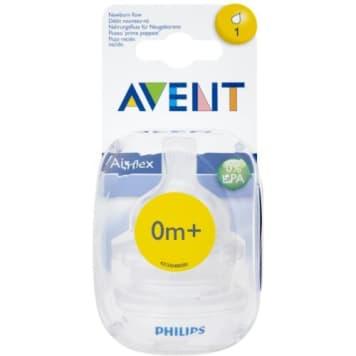 PHILIPS AVENT Smoczek na butelkę dla noworodków 0m+ (SCF 631/27) 2szt 1szt