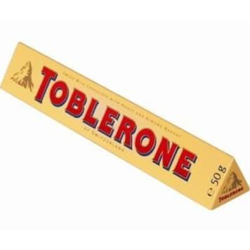 Czekolada mleczna-Toblerone to jedna z najpopularniejszych szwajcarskich czekolad.