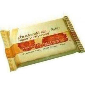 Marion - Chusteczki do higieny intymnej 10 szt. skutecznie pomogą w utrzymaniu właściwego pH.