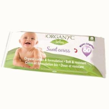 Chusteczki higieniczno-nawilżające - Organyc. Doskonale oczyszczające i wytrzymałe chusteczki.