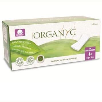 Cienkie wkładki higieniczne Bio Organyc gwarantują komfort i uczucie świeżości. Produkt Bio.