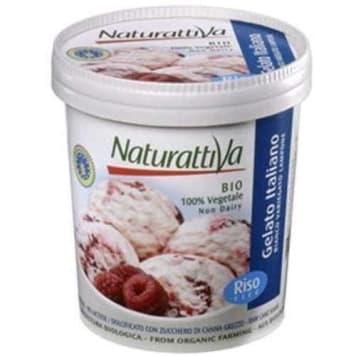Lody ryżowe waniliowe BIO - Naturattiva to deser na bazie ekstraktu ryżowego.