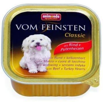 Pokarm dla psów wołowina i serca indycze - Animonda. Dla psa to co najlepsze.