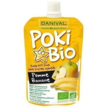 Przeciez jabłkowo-bananowy 90g DANIVAL POLSKA. Zdrowa, ekologiczna przekąska z owoców