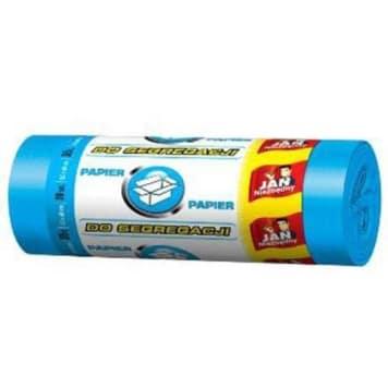 JAN NIEZBĘDNY Worki do segregacji 35l 20szt niebieski. Niezbędne w domu, do segregacji papieru.