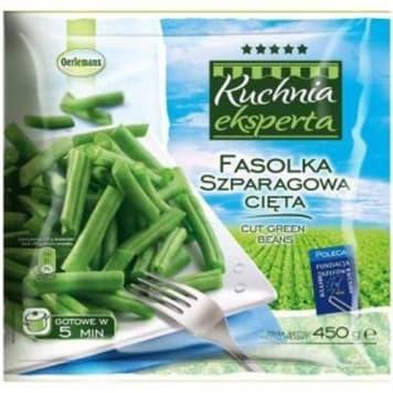 Fasolka zielona szparagowa mrożona 450g OERLEMANS. Pyszny warzywny dodatek do obiadu.