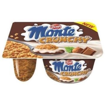 Zott – Deser mleczny Crunchy Monte zawiera dwa rodzaje kremu oraz płatki musli.