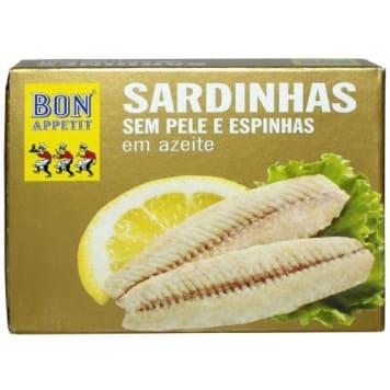 Sardynki portugalskie bez skóry - Bon Appetit. Śródziemnomorski przysmak, doskonały do pieczywa lub sałat.
