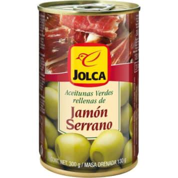 Oliwki zielone z szynką (puszka) 300g - Jolca . Doskonale podkreślą smak wielu potraw.