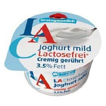 Jogurt kremowy bez laktozy – Breisgaumilch. Świetny dodatek do przekąsek.