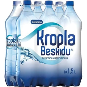 Naturalna woda mineralna gazowana -Kropla Beskidu