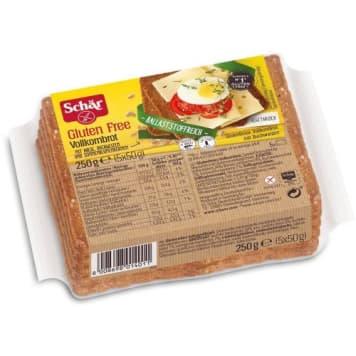 Bezglutenowy chleb razowy, 250 g – Schar. Zawiera ziarna słonecznika.