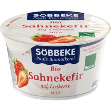 Kefir Serek z truskawkami BIO - Sobbeke. Idealny na śniadanie lub zdrowa przekąska w ciągu dnia.