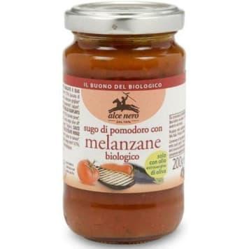 Sos pomidorowy z grillowanym bakłażanem 200g - ALCE NERO Melanzane. Gotowy do spożycia. Produkt BIO