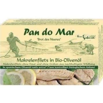 Makrela w oliwie z oliwek 120g-PAN DO MAR. Idealna dla miłośników ryb.