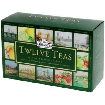 Herbata aromatyzowana 60 torebek - Ahmad Tea. Wyjątkowy zestaw dwunastu rodzajów herbat ekspresowych.