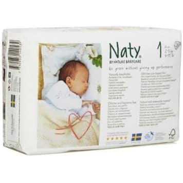 NATY Eco Nappies Size 1 (2-5kg) 25 pcs 1pc