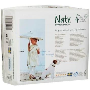Ekologiczne pieluszki 4+ (9-20 kg), 25 sztuk - Naty to najlepsza ochrona dla delikatnej skóry.