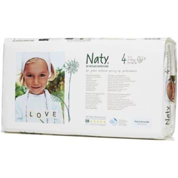 Ekologiczne Pieluszki 4 (7-18kg) 46 szt - Naty. Wykonane tylko przy użyciu naturalnych materiałów.