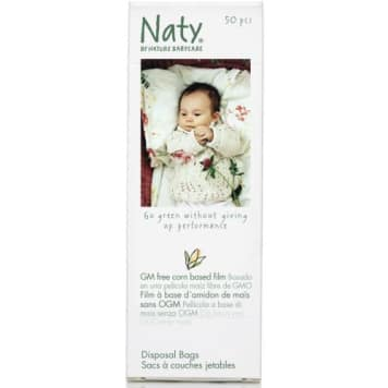 Ekologiczne woreczki na pieluchy – Naty. Nie wpływają negatywnie na środowisko naturalne.