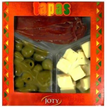 Tapas (szynka, oliwki, ser) – Joty to wyjątkowa, typowo hiszpańska przekąska.