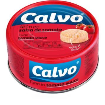Calvo – Tuńczyk w sosie pomidorowym to pyszne połączenie delikatnego sosu i lekko słonego tuńczyka.