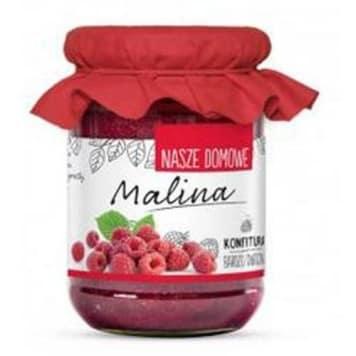 Konfitura z malin to produkt, który nie tylko nadaje się do pieczywa, ale także do wielu wypieków.