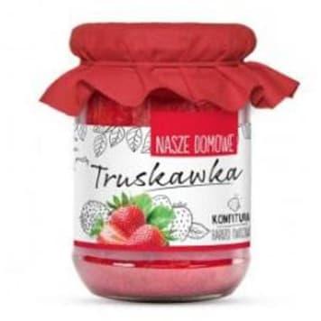 Konfitura z truskawek – Nasze Domowe to dobra propozycja do naleśników i pieczywa.