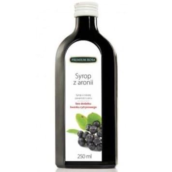 Syrop z aronii, obniżona zawartość cukru - Premium Rosa. Zawiera antocyjany i wolne rodniki.