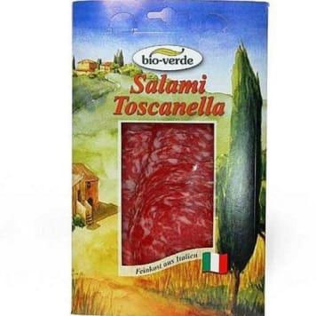 Salami Toscanella plastry Bio 80g - Bio Verde. Wędlina z najwyższej półki.