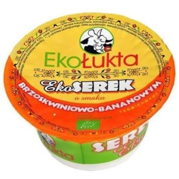 Serek brzoskwiniowo-bananowy - Ekołukta. Delikatny i pożywny serek doskonały na na śniadanie.