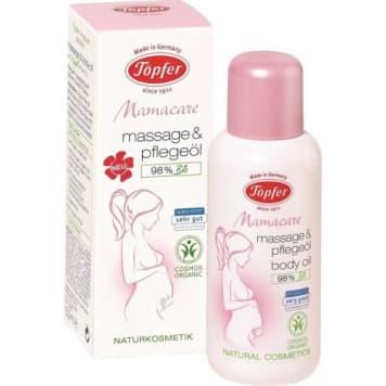 Olejek do masażu-Topfer Mama Care. Dokładnie nawilża i zapobiega powstawaniu rozstępów.