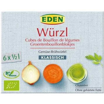 Kostki warzywne Bio Eden to bezglutenowa baza do różnorodnych zup.