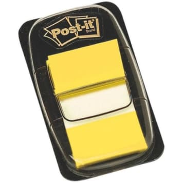 Post-It - Żółte zakładki indeksujące 50 sztuk. Doskonały pomysł na podział ważnych informacji.