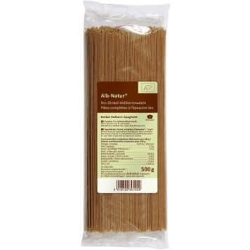 Makaron razowy spaghetti-Alb-Natur. Z mąki orkiszowej.