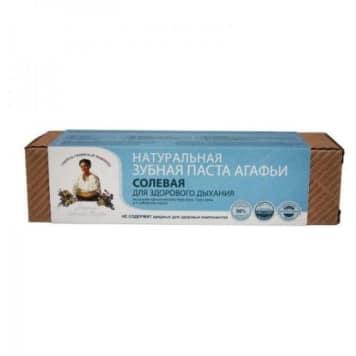 Syberyjska pasta do zębów solna - Agafii. Skutecznie zapobiega nieświeżemu oddechowi.