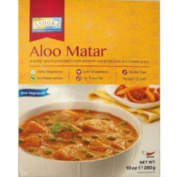 Indyjskie danie Aloo Matar - Ashoka. Indyjskie danie do szybkiego przyrządzenia.