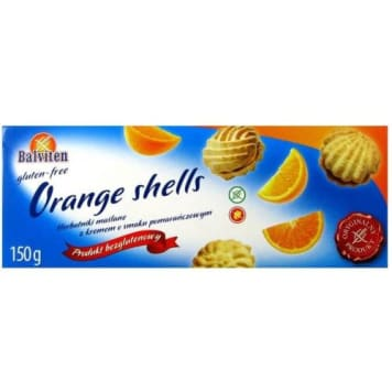 Balviten - bezglutenowe herbatniki  z kremem pomarańczowym 150 g - deser bez glutenu