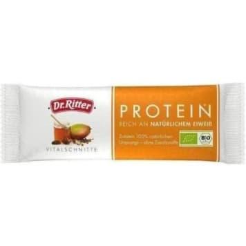 Baton energetyczny Bio - Dr Ritter. Energetyczne doładowanie z wysoką zawartością protein.