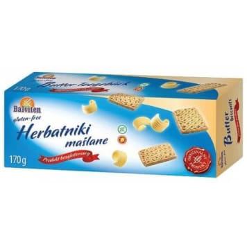 Herbatniki maślane bezglutenowe BALVITTEN 170g - słodka przekąska dla osób z nietolerancją glutenu.