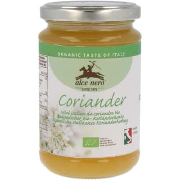 Miód z kolendry Bio - Alce Nero. Zachwyca łagodnym smakiem.