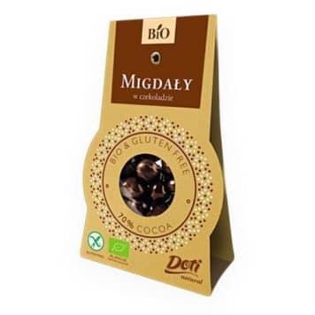 Migdały w czekoladzie bezglutenowe - Doti. Naturalna, slodka przekąska zachwyci Cię smakiem.